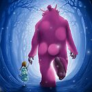 The child and the pink giant by jordygraph