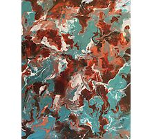 Copper Teal Abstract  Photographic Print