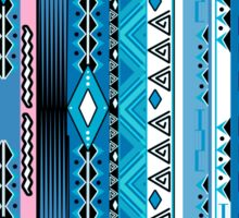 African ethno abstract seamless tribal pattern with decorative folk elements background Sticker