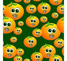 Orange smiley faces Photographic Print