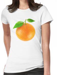 Fresh orange Womens Fitted T-Shirt