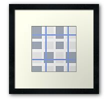 knitted fabric Framed Print