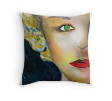 Cardboard Nancy Monroe Throw Pillow