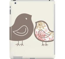 Sweet Pink Damask Mommy and Baby Chicks iPad Case/Skin