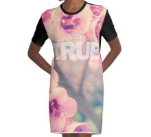 Stay True (Floral) Graphic T-Shirt Dress