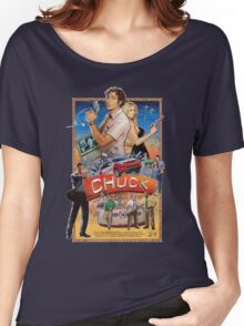 Funny Chuck TV Poster Women's Relaxed Fit T-Shirt