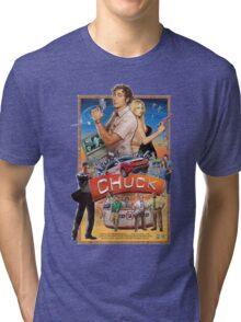 Funny Chuck TV Poster Tri-blend T-Shirt