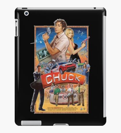 Funny Chuck TV Poster iPad Case/Skin