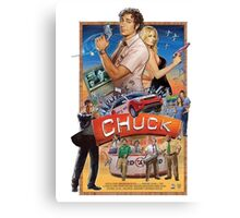 Funny Chuck TV Poster Canvas Print