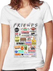Friends TV Sayings Women's Fitted V-Neck T-Shirt