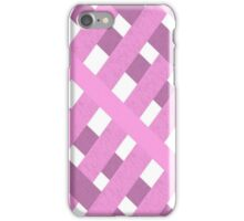 pink candy plaid iPhone Case/Skin