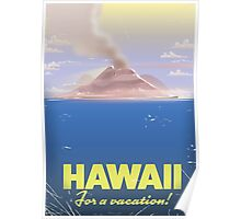 Hawaii for a Vacation!  vintage travel poster, Poster