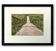 steep stairs down Framed Print