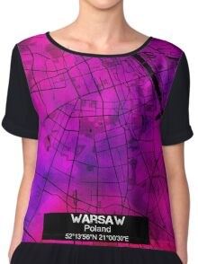 Warsaw city map Chiffon Top