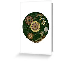 Zentangle style with flowers. Greeting Card