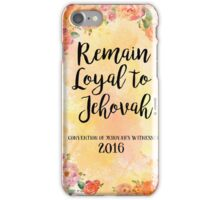 Remain Loyal to Jehovah! 2016 Convention of Jehovah's Witnesses (in Floral Orange) iPhone Case/Skin