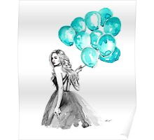 Balloons blue Poster