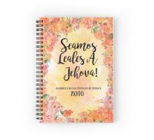 Seamos Leales A Jehová! 2016 Asamblea de los testigos de Jehová (Floral Orange) Spiral Notebook