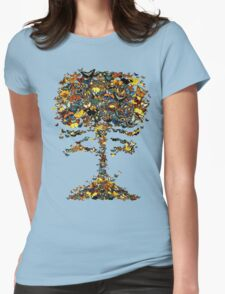 Atomic Butterfly Womens Fitted T-Shirt