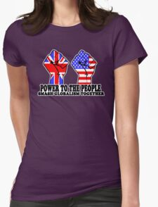 POWER TO THE PEOPLE - SMASH GLOBALISM TOGETHER Womens Fitted T-Shirt