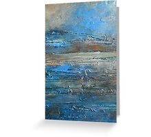 abstract landscape fine art painting coastal themed decor PACIFIC COAST Greeting Card