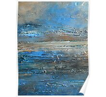 abstract landscape fine art painting coastal themed decor PACIFIC COAST Poster