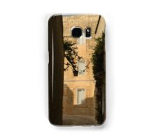 The Sunny Side of the Street - Mdina, the Ancient Capital of Malta Samsung Galaxy Case/Skin