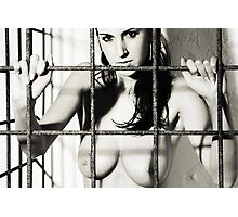 Woman in cage Photographic Print