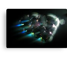 Light shining through bubbles Canvas Print