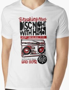 DISC NIGHT WITH HIPHOP Mens V-Neck T-Shirt