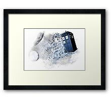 I stole a Timelord and ran away Framed Print