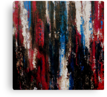 Dark Abstract Painting Magenta, Champagne, Blues and Black OPERETTA Canvas Print