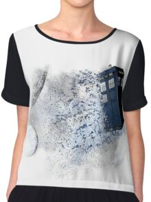 I stole a Timelord and ran away Chiffon Top