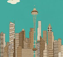 Seattle city skyline by bri-b