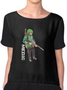 Well Armed Medic - By Pitstop Head Chiffon Top