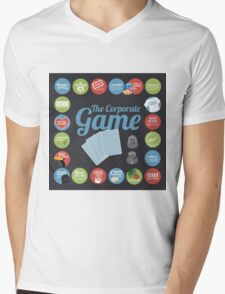 Corporate Game with humorous milestones. Mens V-Neck T-Shirt