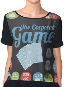 Corporate Game with humorous milestones. Chiffon Top