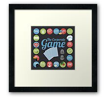 Corporate Game with humorous milestones. Framed Print