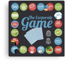 Corporate Game with humorous milestones. Canvas Print