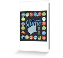 Corporate Game with humorous milestones. Greeting Card