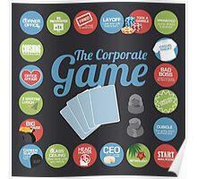 Corporate Game with humorous milestones. Poster