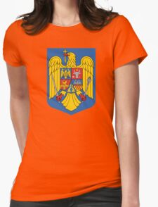 Romania Coat Of Arms Womens Fitted T-Shirt