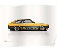 70 Series Corolla Liftback Poster