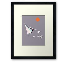 Paper Spaceship 1 Framed Print