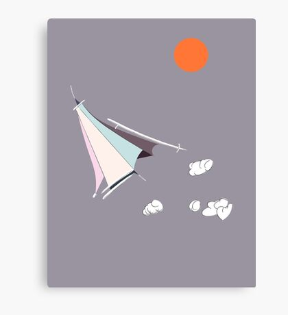 Paper Spaceship 1 Canvas Print