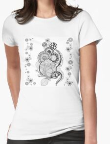 composition with pomegranate Womens Fitted T-Shirt