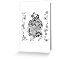 composition with pomegranate Greeting Card