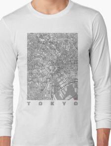 Tokyo Map Line Long Sleeve T-Shirt