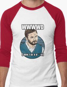 WWWWD - What Would Wil Wheaton Do? (Safe) Men's Baseball ¾ T-Shirt