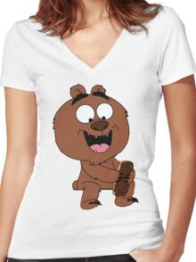 Malloy from Brickleberry Women's Fitted V-Neck T-Shirt